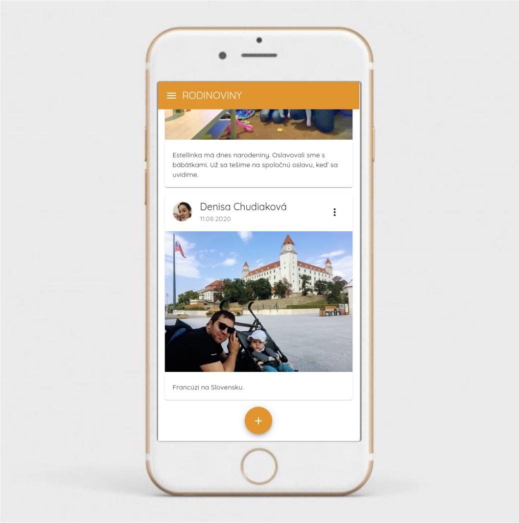 aplikacia rodinoviny je jednoducha fotky pridate dvoma klikmi